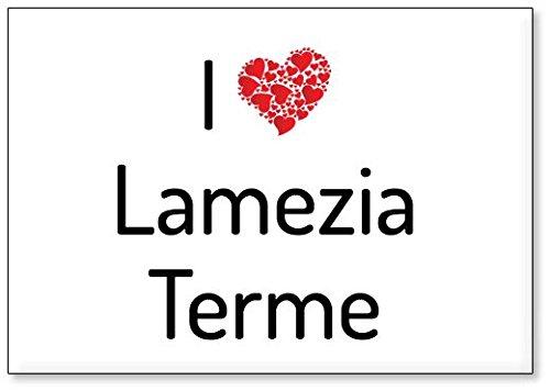 Mundus Souvenirs - Io Amo Lamezia Terme, calamita da frigo (Design 1)
