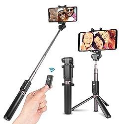 Kaufen Power Theory Bluetooth Selfie Stick mit Handy Stativ und Fernauslöser - Selfiestick für Samsung Galaxy S9 S9+ S8 S7 Edge S6, iPhone XS Max X 8 7 6s Plus 6 und alle Smartphones - Selfi Halter Monopod Stange