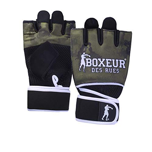 BOXEUR DES RUES Serie Fight Activewear, Guanti da Fit-Boxing con Imbottitura in Gel Unisex Adulto,...
