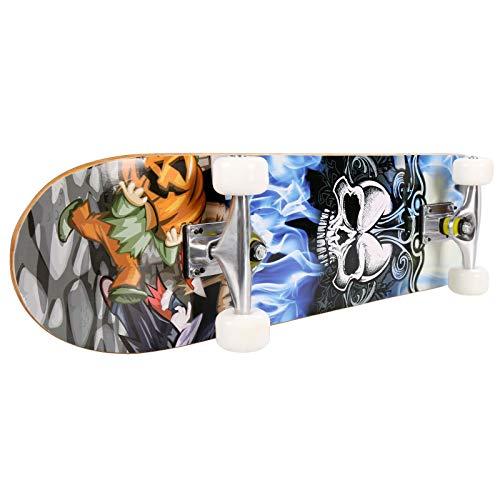 sakj-b PRO Stampa Tavola in Legno Ruote in PU Ruote Complete Tavola da Skateboard Longboard Ponte in...