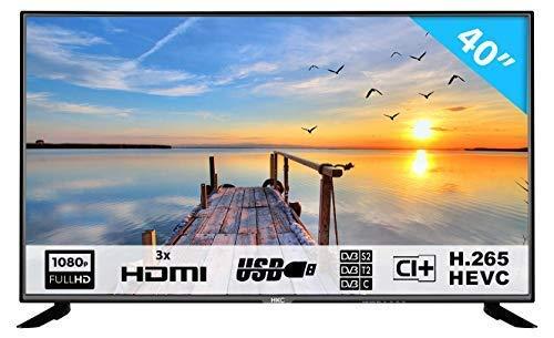 HKC 40F1N: Televisore 101 cm (40 pollici) TV (Full HD, Triple Tuner con TDT/DVB-T + T2, DVB-S,...