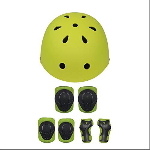 AOBLEL Ginocchiere per Bambini Casco Bambino, Moto Skateboard Casco Giovani Hoverboard Ciclismo...