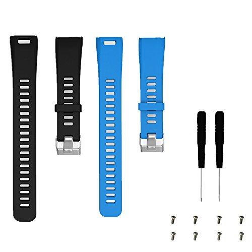 WEINISITE Cinturino per Garmin vívosmart HR,Silicone Morbido Sostituzione Braccialetto per Garmin vívosmart HR Activity Tracker (#2)