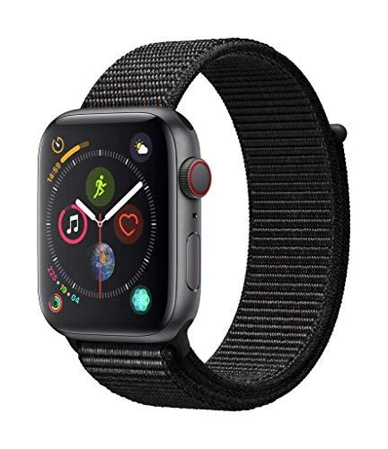 AppleWatch Series4 (GPS+Cellular) con caja de 44mm de aluminio en gris espacial y correa Loop deportiva negra