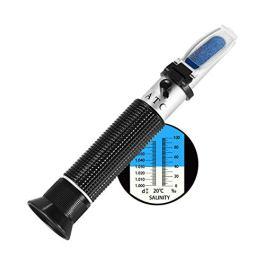Ottica salinità Rifrattometro,W-Unique Salinità Rifrattometro Portatile 0-100ppt (1.0 a 1.070 S.G.) Tester di Salinità per Cucina o Strumento di Test per Acquario,Industria