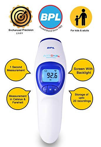 BPL Medical Technologies BPL Accu Digit F1 Non Contact Infrared Thermometer (White)