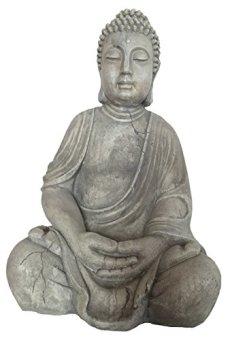 Figura de Buda gris sentado aprox. 50cm Jardín Buda nº 1Meditación