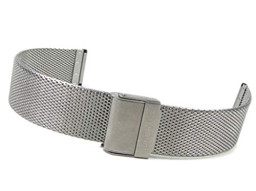 Junghans Max Bill Cinturino per orologio, in acciaio inossidabile, Milanaise 027 3805,44/20 mm