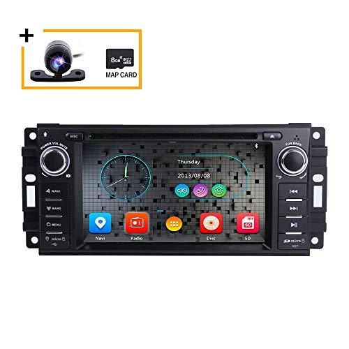Autoradio stereo per Dodge Ram Challenger Jeep Wrangler JK Head Unit 6.2 pollici capacitivo Multi-Touch Screen Car GPS DVD con telecamera posteriore Europa Map