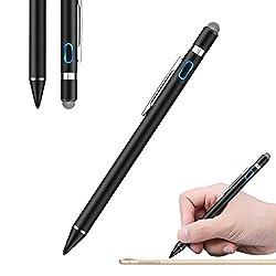 Kaufen SAWAKE Stylus Stift Touchstift USB wiederaufladbar Eingabestift mit 1.5 mm aktive Goldstiftspitze& assive Faserspitze für Kondensator& resistiven Touchscreen von iOS, Android Geräten, iPhoneX, iPhone 8, iPhone 8 plus, iPad, Samsung, Huawei, Tablet usw.
