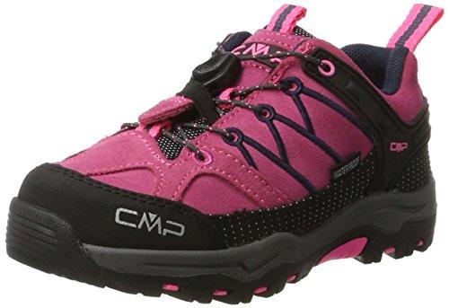 CMP Rigel Low Wp, Scarpe Da Arrampicata Basse Unisex-Bambini, Rosa (Pink Fluo-Asphalt), 30 Eu