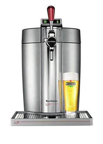 Krups VB700E00 Machine à Bière Pression Beertender Loft Edition Pompe Tireuse à bière Fût 5L Argent Chrome