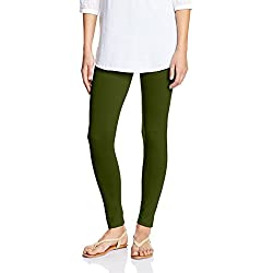 Myx Women's Cotton Stretch Leggings (AW16LEG01B_Mahanadi Green_Small)