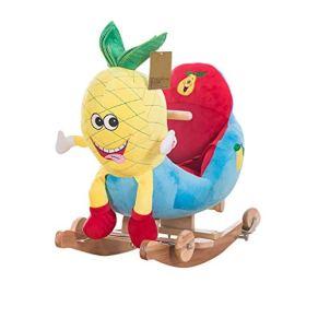 Caballo mecedora Caballo mecedora con ruedas 2 en 1, juguete for caballo mecedora for interiores y exteriores, caballito mecedor for bebés, mecedora de madera for niños, paseo en juguete for niños de