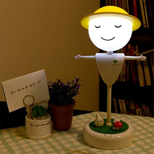 ZCHPDD Ensore Touch Spaventapasseri E Lampada da Tavolo A Luce Notturna A LED USB Lampada da...