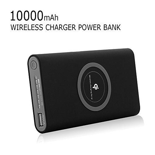 Batería Incorporada 3 en 1 de 8000 mAh de Carga Inalámbrica + Portable Power Bank + type-c con Tecnología Qi in and out y linterna LED para Samsung Galaxy S10/S9/S8, Google Pixel Phone