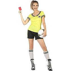 Atosa-56623 Disfraz Árbitro Color Amarillo M-L (56623