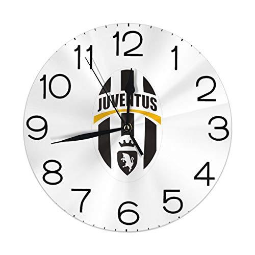Melinda Perrodin Juventus Logo Orologio da Parete Orologio Rotondo Orologio Elegante Pittura A Olio Orologio Digitale Muto
