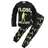ALAMing - Pijama Dos Piezas - para niño Negro Negro (150 cm