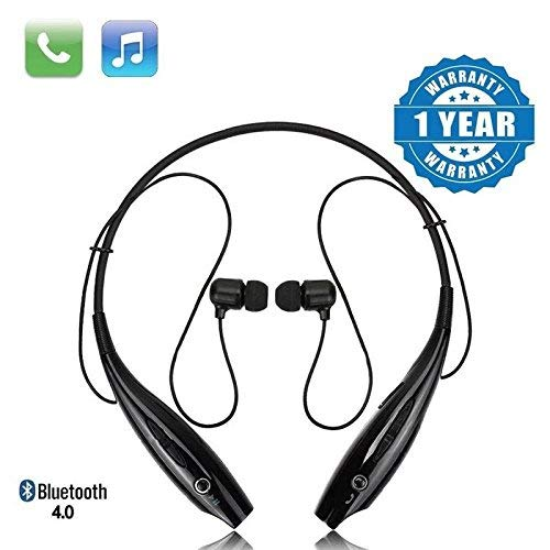 Celrax Bluetooth Wireless Headphones Sport Stereo Headsets Hands-free with Microphone and Neckband for Android and Apple Devices (Black)