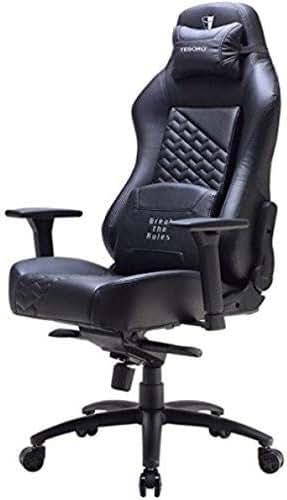 Tesoro F730 Zone Evolution Gaming Stuhl Bürostuhl mit Kunstlederbezug Schwarz/Black