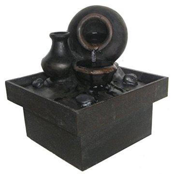 Zen Light Fontaine d'intérieur Pot, Marrón, 13 x 13 x 15 cm 3