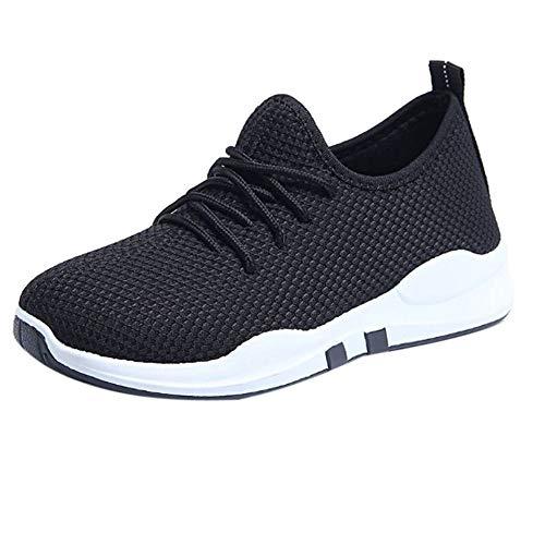 b5720d32fae74f MRULIC Damen Laufschuhe Schnüren Sich Oben Flach Bequeme Fitness Gym Sport  Schuhe Freizeitschuhe Sportschuhe Running Sneaker