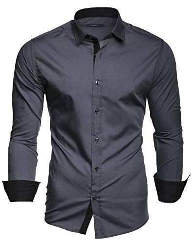 Kayhan Herren Hemd, TwoFace Grau S