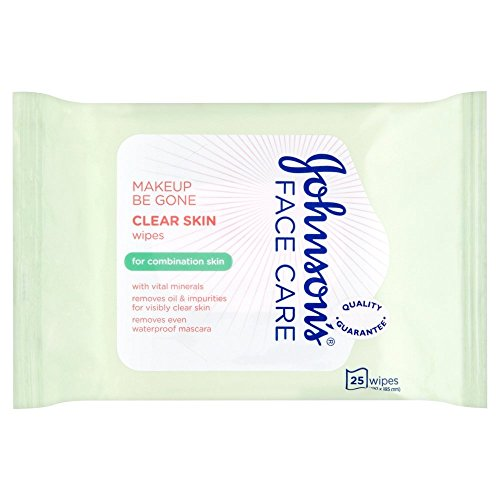 Johnson's Face Care Makeup Be Gone Clear Skin Wipes, 25 Wipes