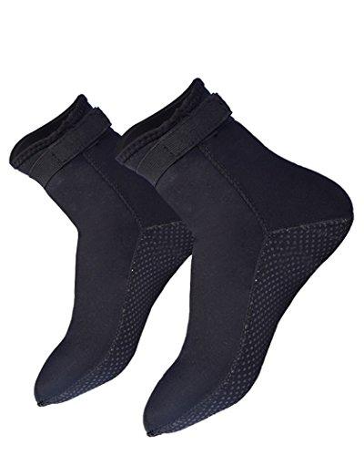 Vinsmoke, Calcetines de Neopreno de 3 mm para Playa, natación, Surf, Yoga, Ejercicio, Buceo, Zapatos de Agua para Hombres y Mujeres Adultos, Negro, Large