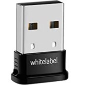 Whitelabel Adattatore Bluetooth 4.0 USB per PC Plug and Play o con Driver IVT Bluesoleil -Per Windows 10 / 8.1 / 8 / 7 / Vista / XP a 32 bit e 64 bit