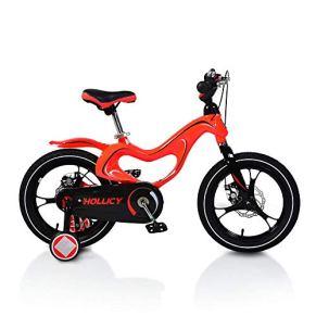 Moni Bicicletas para niños 16 Pulgadas de magnesio MH en Las Ruedas de Apoyo Rojo Campana Manillar Frenos