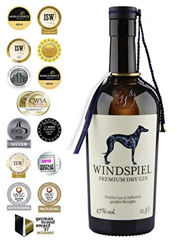Windspiel Premium Manufaktur Dry Gin (1 x0,5 l) - Meininger Gin des Jahres 2018
