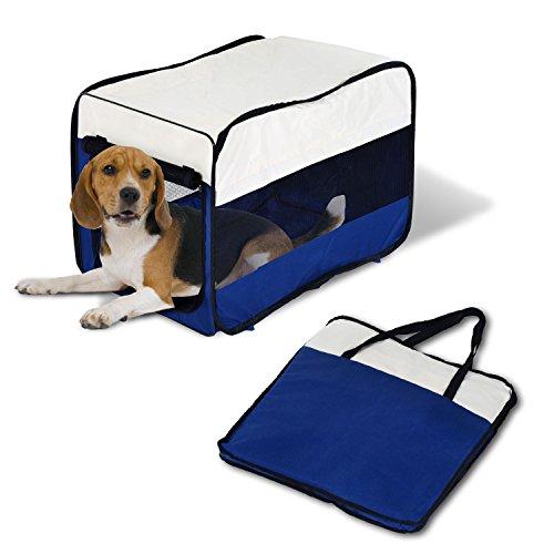 PawHut Transportin Plegable Mascotas Perros Gatos Cachorro Viaje 3 Tamaños Bolsa Coche (M: 63 x 45 x 45cm (L x An x Al))