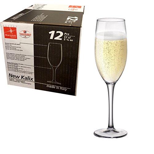 Confezione da 12 CALICI 17cl per prosecco spumante Flute da Champagne - BORMIOLI ROCCO MADE IN ITALY...