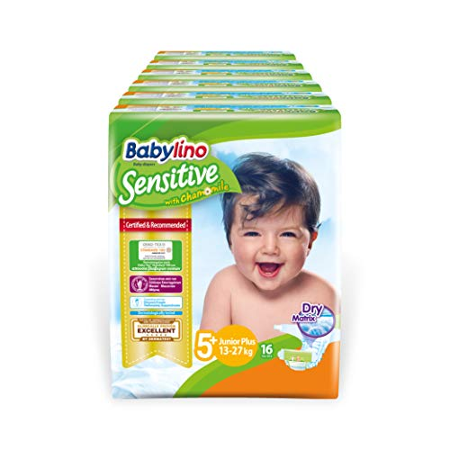 Babylino Sensitive Junior Plus, 96 Pannolini Taglia 5+ (13-27Kg)