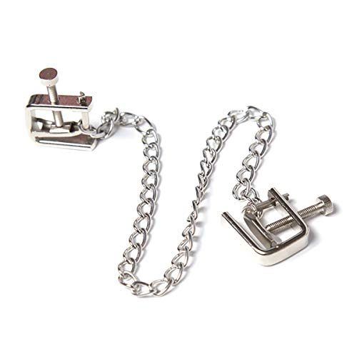FIZZENN The Bondage Fetish Metal Nipple Clamps Toys with Attachable Chain
