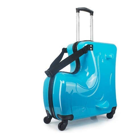 Swarim Kids Travel Trolley Suitcases Ride On Wheels Children Carry On Spinner Rolling Luggage Travel Bag Student School Bag Travel Luggage Suitcase with Spinner Wheels