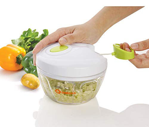 Omega's Mini Handy Chopper Vegetable Chopper 3 Stainless Steel Blade (400 ml)