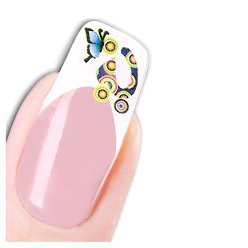 Just Fox-uñas Pegatinas Nail Art Butterfly Mariposa clavos Soporte Adhesivo Water Decal