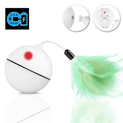 Giocattoli Gatto Interattivi Palla - Ricarica USB Sfera Rotante Automatica, Batteria Ricaricabile...