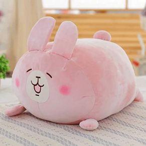 Juguete de peluche Super Soft Down Cotton Padded Cute Pillow Niños Cómodo Cojín Toy Creative Unique Cartoon Rabbit Cushion Pillow Se puede utilizar como juguetes de peluche Decoración del hogar Cuello