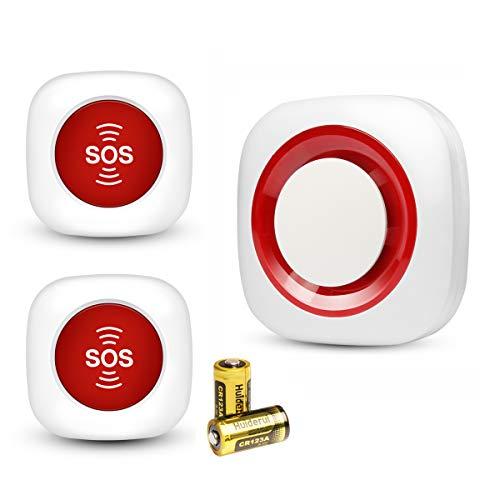 Set di chiamata infermiera chiamata di emergenza a domicilio emergenza per gli anziani allattamento anziani allarme panico allarme senza fili Allarme SOS Senza fili con batterie