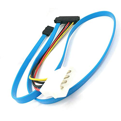 ELECTROPRIME Cable SCSI SFF-8482 To SATA cord Adapter Plug 45g 3Gbps Connector Blue
