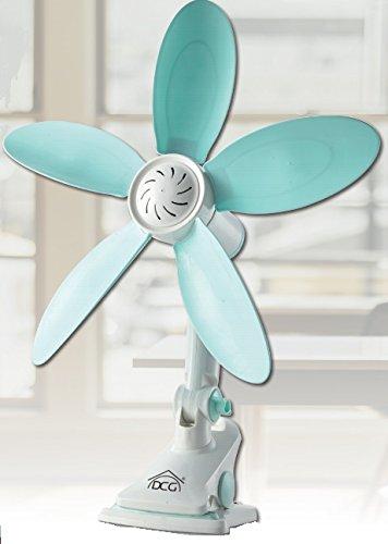 Mini Ventilatore Da Tavolo Con Clip Ventilatore Da Scrivania Silenzioso Con 5 Pale Plastica Morbida...