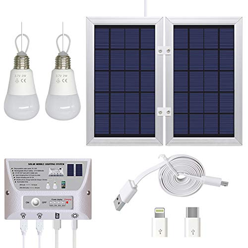 Luci solari, Pannelli solari di 3.7V 3W ha Condotto Le luci di Campeggio, luci Esterne solari...