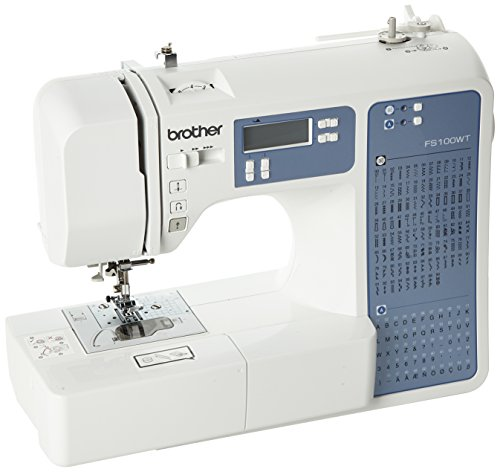 Brother FS100WT Free Motion Embroidery/Sewing and Quilting Machine, White