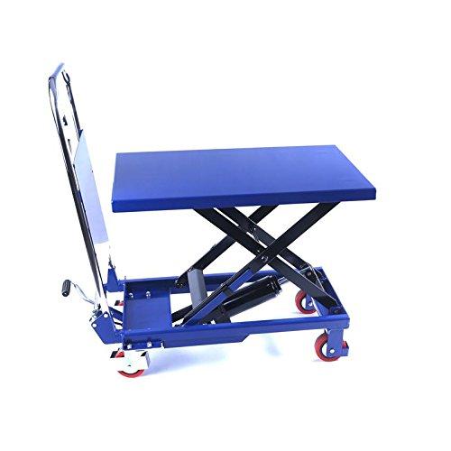Hydraulischer, fahrbarer Hubtisch 150 kg - Plattformwagen - Hubstapler