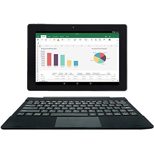 [2 Bonus] Simbans TangoTab Tablette 10 Pouces avec Clavier Ordinateur Portable 2 en 1   Android 8 Oreo, 2 GB de RAM, 32 GB de Disque