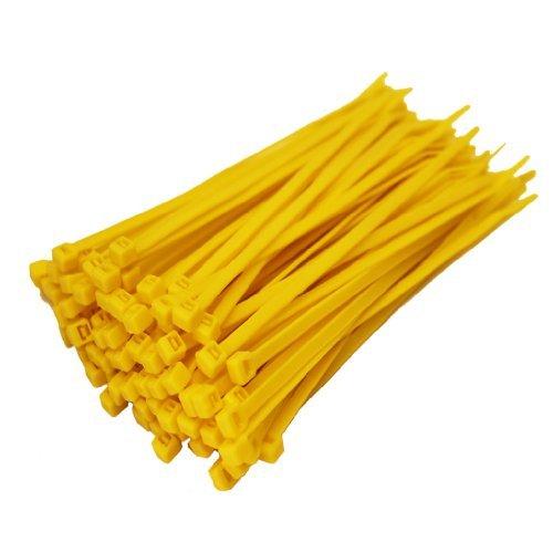Zeuxs 100 x Amarillo Bridas 100 mm x 2,5 mm Cremallera Bases Para Todos Los Tamaños